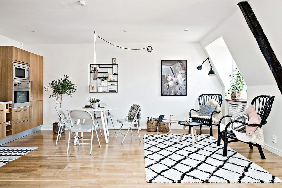 哥德堡由小型斯堪的纳维亚设计创造力表现出公寓