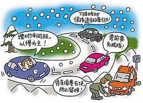 冬天来了,教你冰雪路面行车注意事项