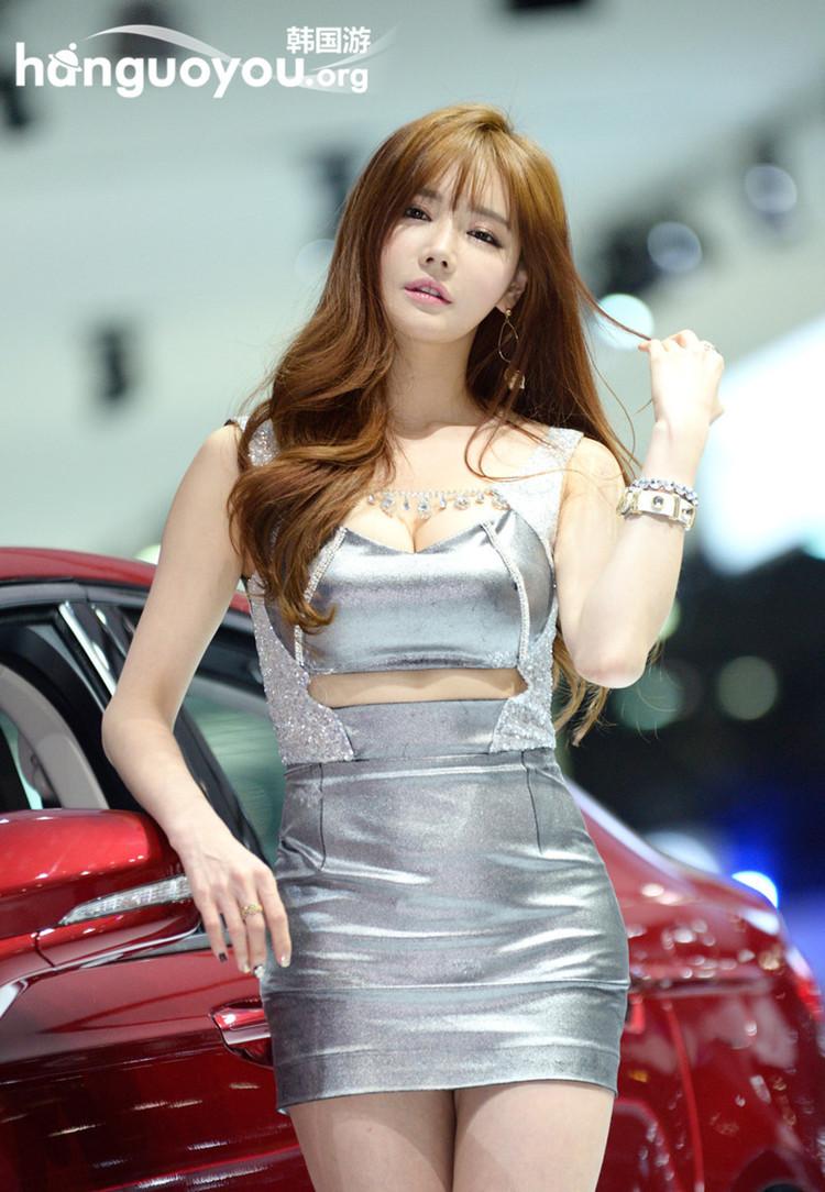 2015韩国国际车展的模特诱惑