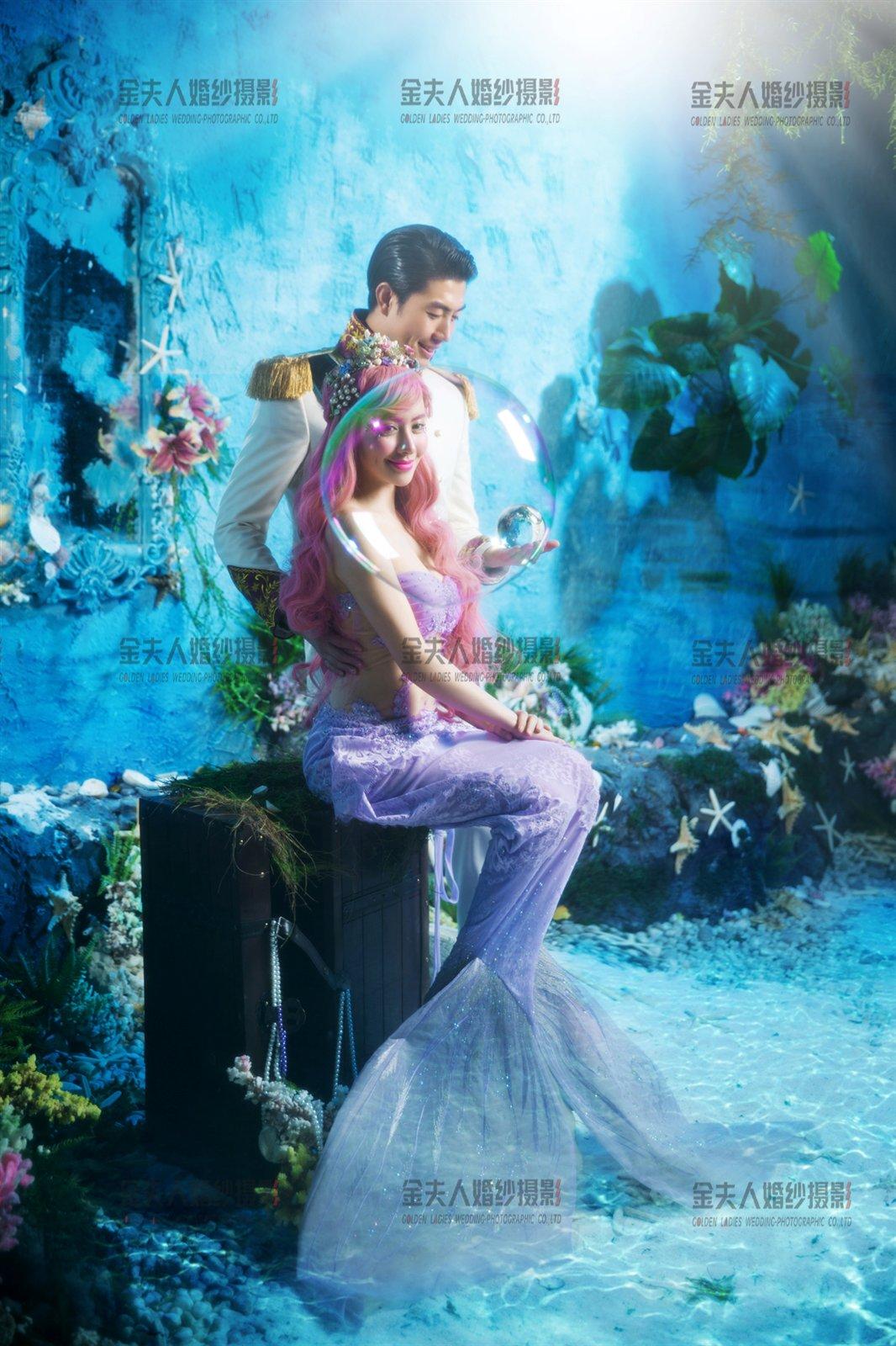 金夫人皇家摄影美人鱼主题