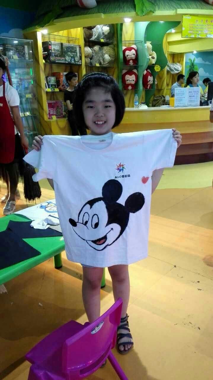 a&c奇彩贝儿童手绘t恤衫涂鸦比赛