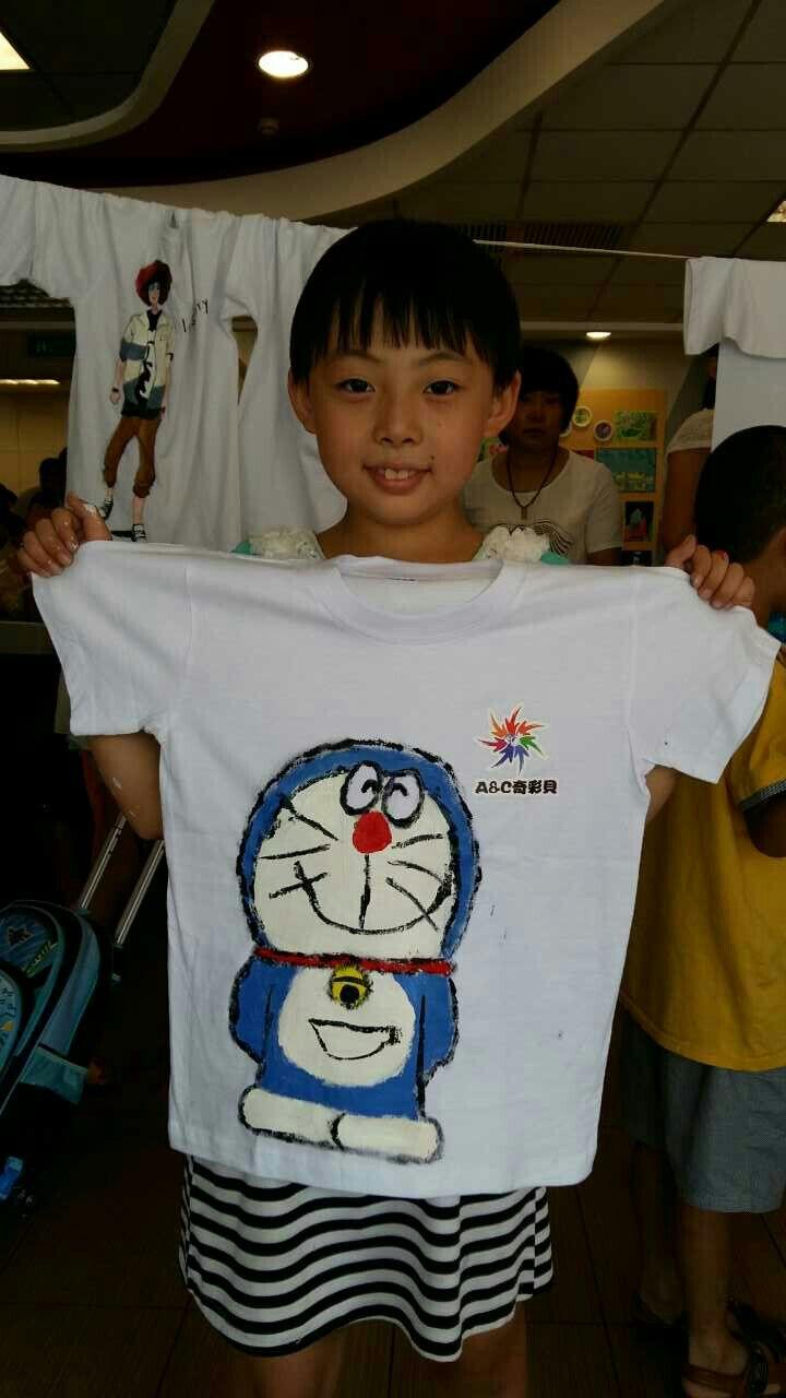 a&c奇彩贝儿童手绘t恤衫涂鸦比赛_安国在线