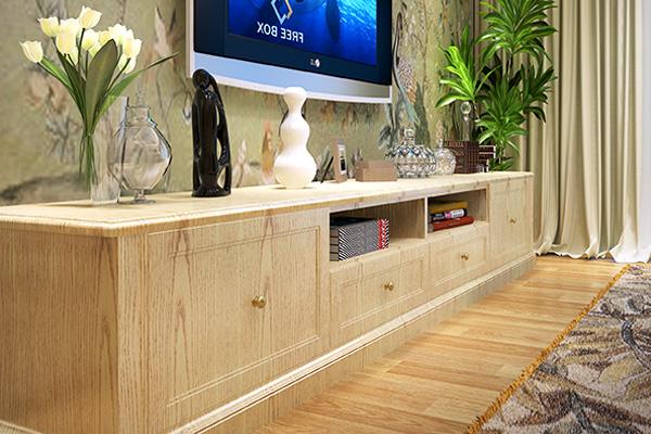 包覆n型白木纹电视柜