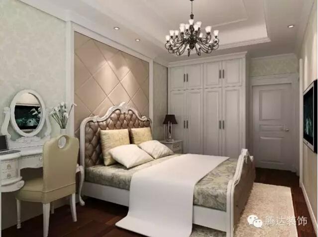 欧式卧室冷色调壁纸搭配