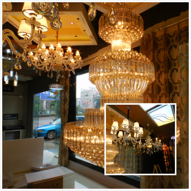 灯饰产品囊括:水晶灯,欧式灯,吸顶灯,低压灯,壁灯,镜前灯,铜灯等十余