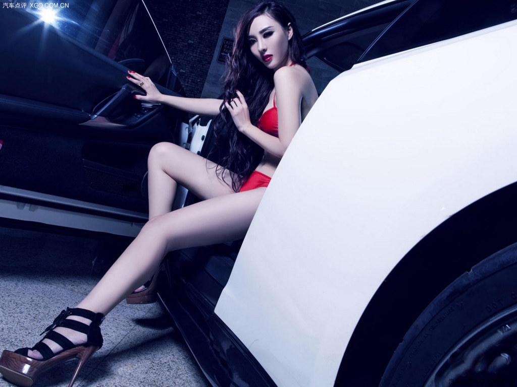 靓丽的车模们